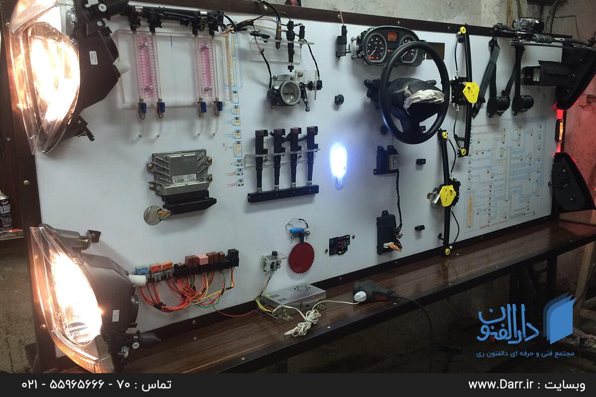 تجهیزات کلاس عملی آموزش سیم کشی و برق اتومبیل