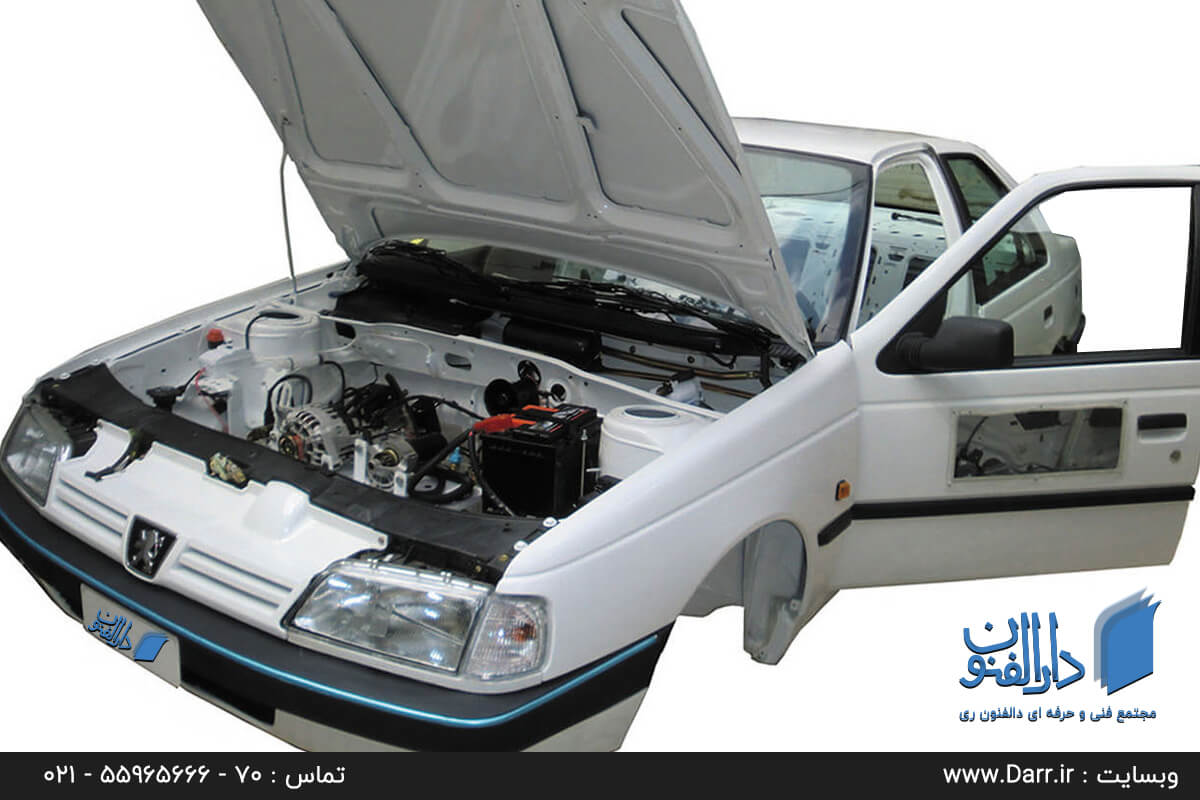 تشریح سیستم برق کشی خودرو ایرانی پژو پرشیا در کلاس باطری سازی
