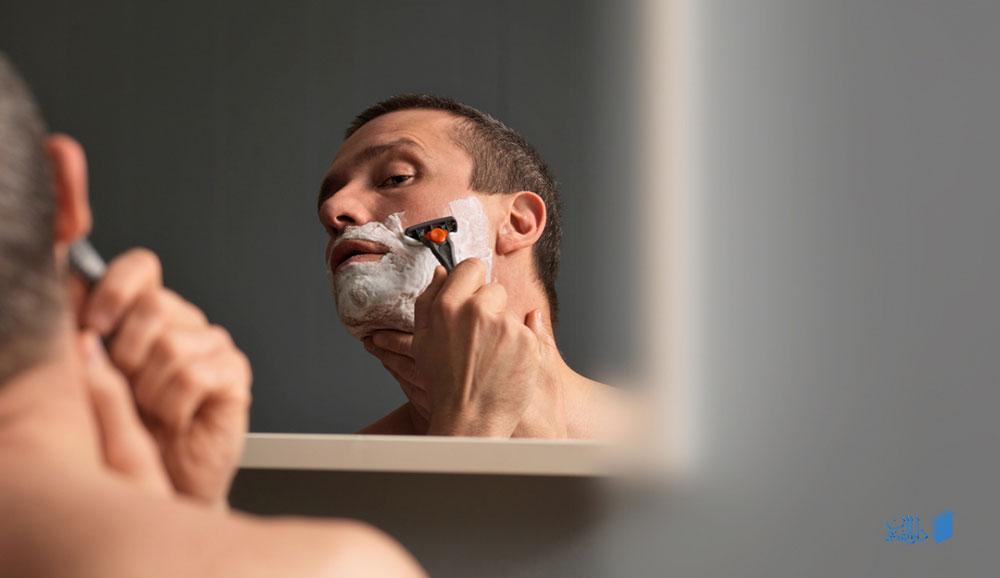 اصول تراشیدن موی صورت با استفاده از تیغ